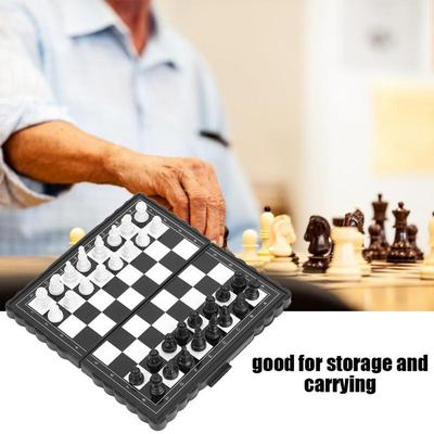 Magnetic Portable Folding Chess Board Chessboard Box Set Game Tournament Chess