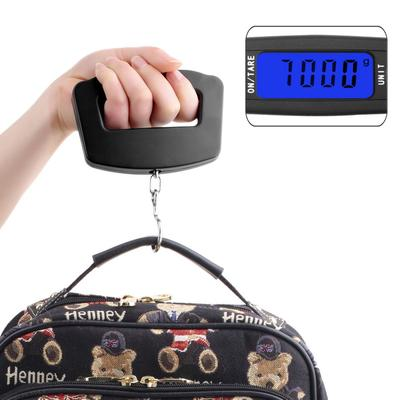 ACEHE 50Kg/10g Digital Electronic Portable Hanging Luggage Weight Wide Hook Scale SBH