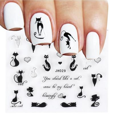 Marble Black And White Nails - Nail and Manicure Trends