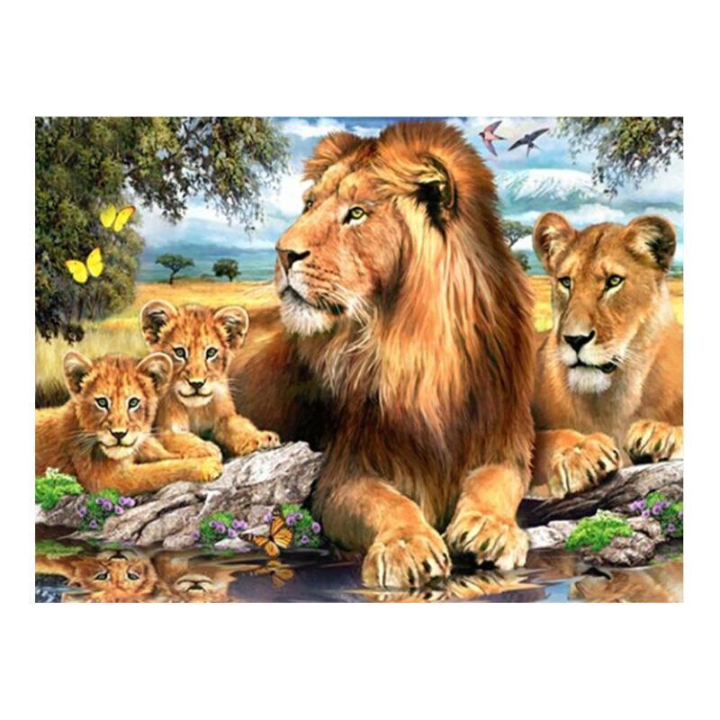 钻石画DIY狮子 2.8七彩圆满钻绣装饰 尖顶26切面 厂家新款定做