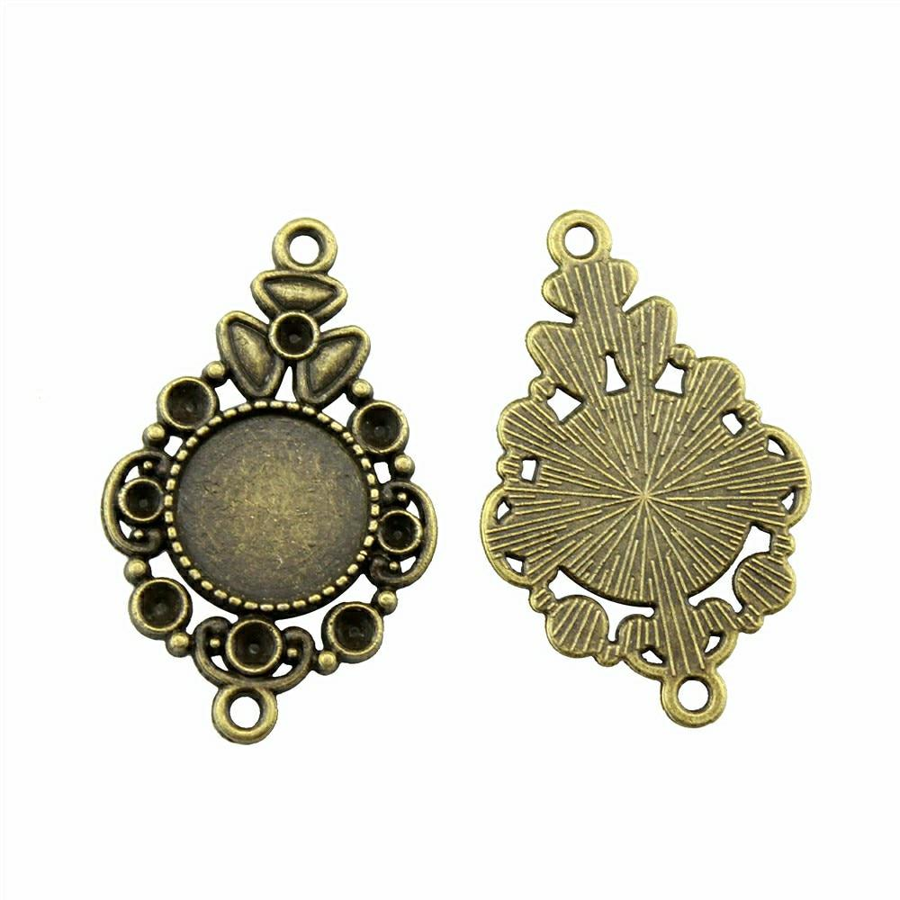 ROSE PENDANT//CHARM DANGLE EARRING FINDING BRONZE 20X25 MM 30 PIECES