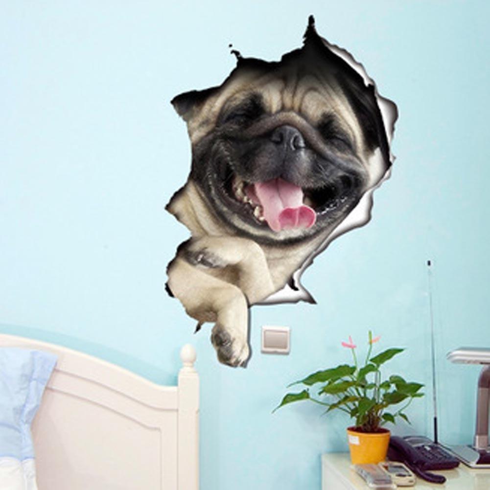 DIY 3D Bulldogge Tier Wand Aufkleber WC Deckel Aufkleber Home Decor Hund  Kunst Farbe Multicolor U2013 Zu Den Niedrigen Preisen Im Onlineshop Joom Kaufen
