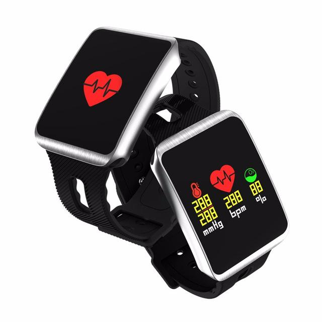 Ios smart watch genboli tf1 bluetooth 4 0 for android phone nordic 52832  chip IP68 waterproof heart rate