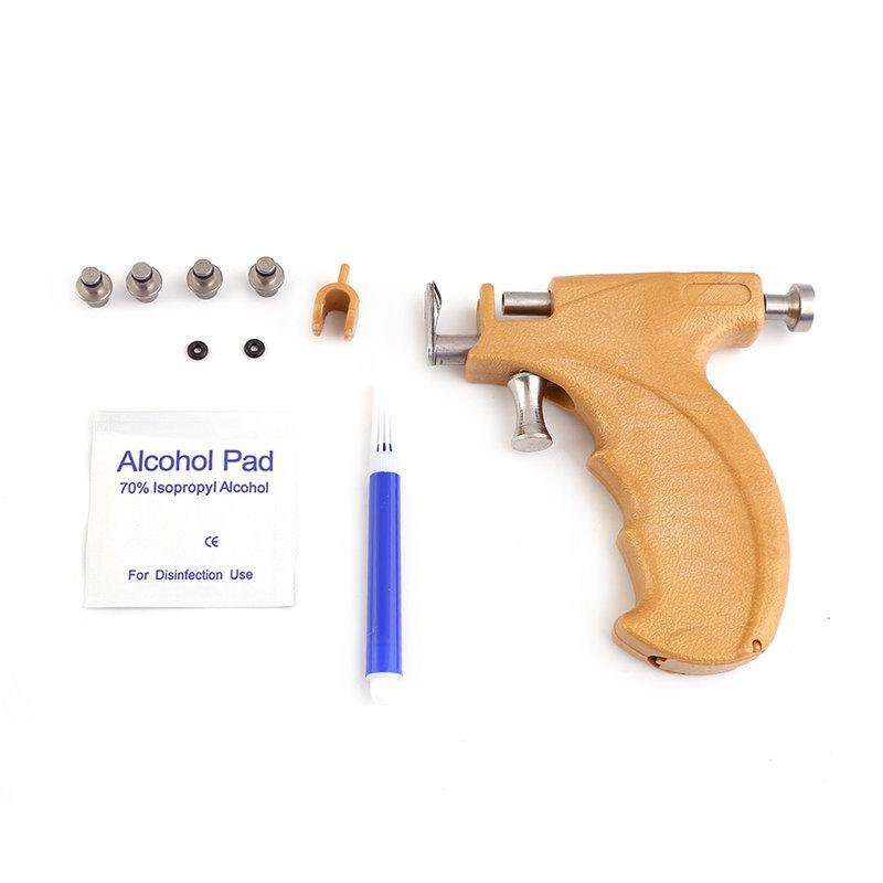 Piercingpistole Ohrlochpistole mit Ohrring aus Chirugischem Stahl mit Kristall*
