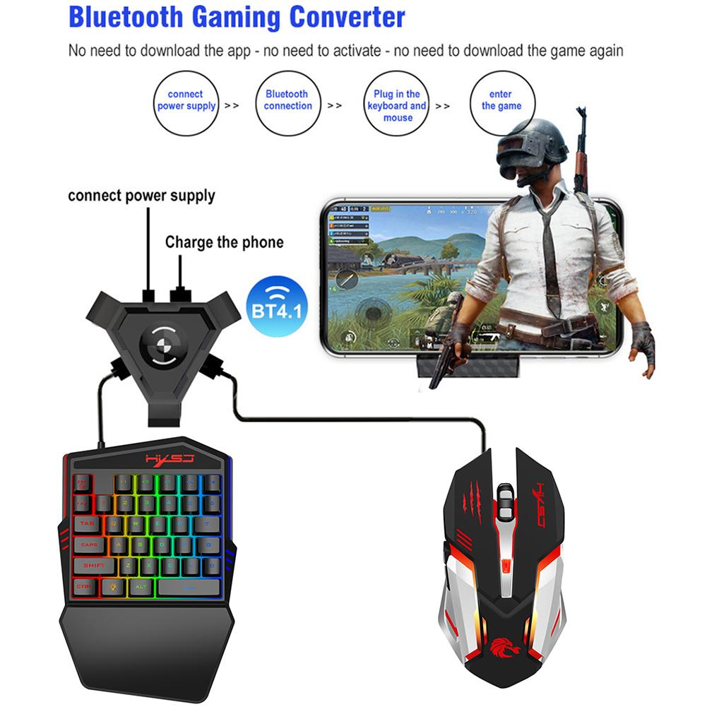 Computer Products V100-2+S100+P5 Bluetooth Mobile Game Keyboard Mouse Converter Set Computer Keyboards