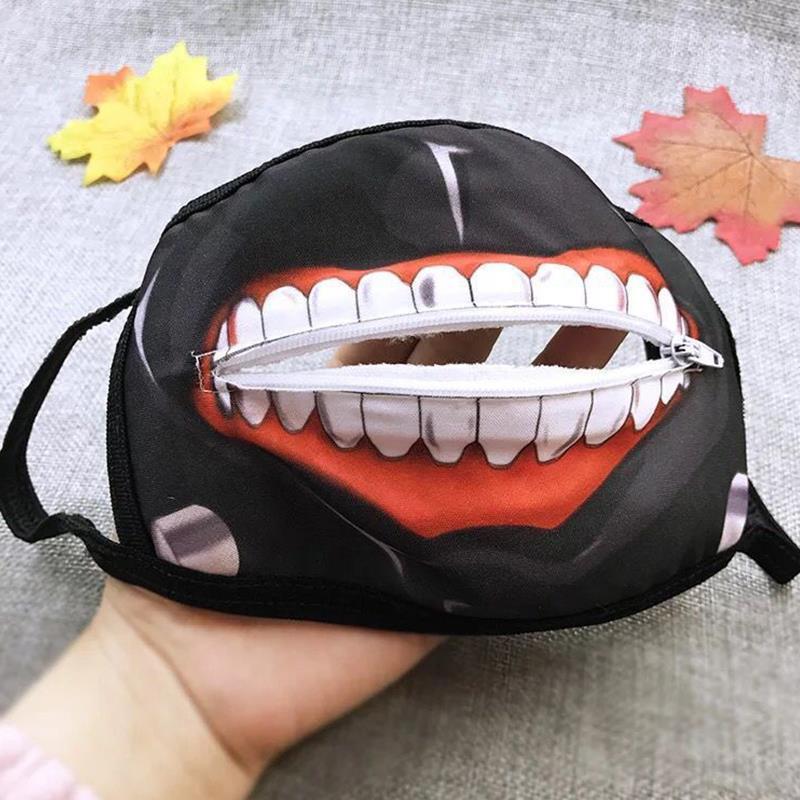 Специальный Хэллоуин Циппер Обложка партии Рот Маска Prop Kaneki Кен Гул Косплей маска Токио – купить по низким ценам в интернет-магазине Joom