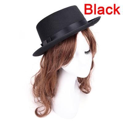 Men Women Vintage Boater Hat Sailor Wide Brim Fedora Felt Trilby Cap  Flat-topped 93a50c7f2e3