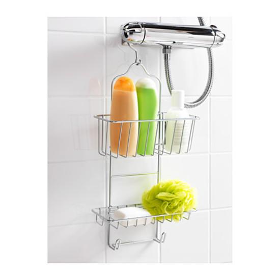 IKEA IMMELN Shower Hanger Two Tiers Zinc Plated Size 24 x 53 cm-buy ... d6ffcd08e1cf4