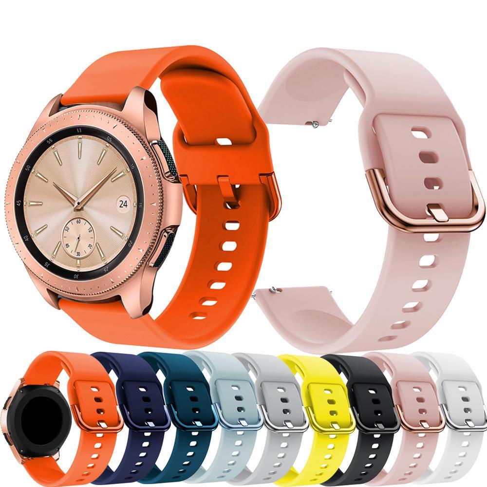 20mm Силиконовая часовая полоса для Samsung Galaxy Watch 42mm Браслет Ремешок Active 2 Смотреть