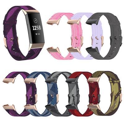 For Fitbit Charge 4/3/3 SE Woven Nylon Woven Nylon Strap Bracelet