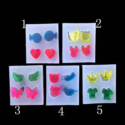 1X Earrings Molds Rubber Transparent Silicone Mold Jewelry Decor