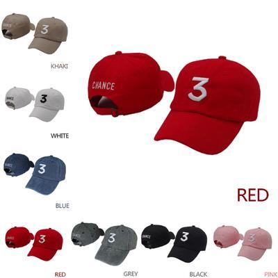 dc059f3bc45 Popular Chance The Rapper 3 Hat Cap Black Letter Embroidery Baseball Cap  Hip Hop Streetwear Strapbac