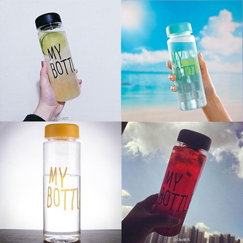 my bottle塑料杯韩国创意透明柠檬水杯