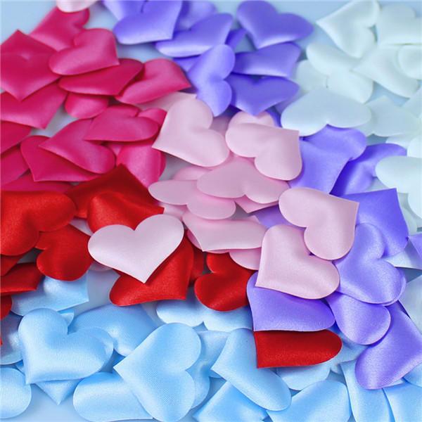 创意爱心海绵手抛花婚房布置桃心床撒花瓣
