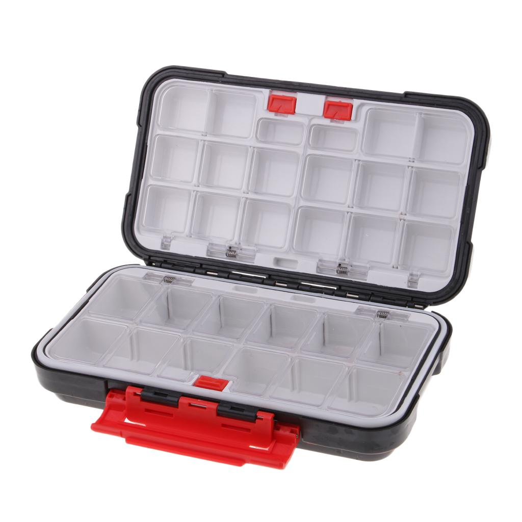 Details about  /Waterproof Plastic Double Layers for Fishing Tackle Box Lures Bait Storage Case,