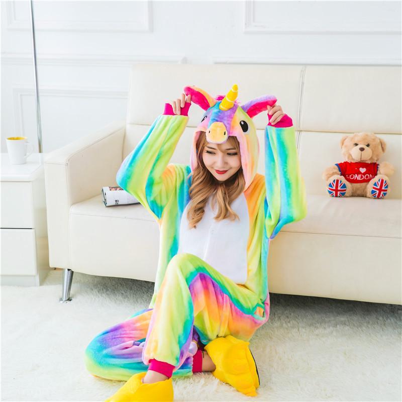 fcf092ef0478 Unicornio zafiro pijamas animales mono adulto Unisex hombres mujeres ...