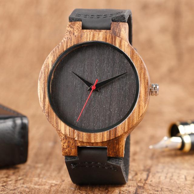 b1c96b11561 Madeira presente Top relógios 100% natureza única de madeira bambu ...