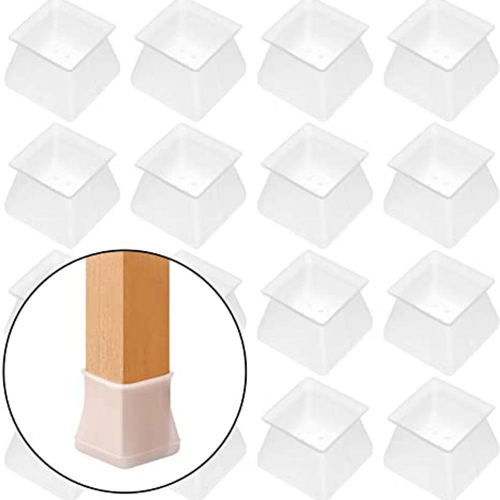 16*Silicone Felt Home Floor Protecter Leg Sleeve Table Chair Foot Cover Socks