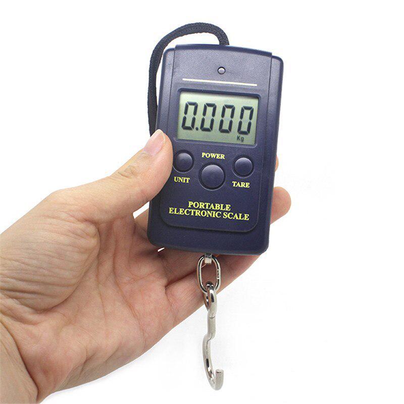 LCD Мини Электронная цифровая шкала 0.01kg - 40кг Путешествия Висячие Весы Крюк Весы Взвешивание Инструменты фото