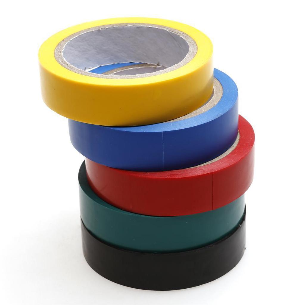 New 12 Yds Electrical Tape Insulation Adhesive Waterproof Pvc Cloth High Heat Resistant Wiring Insulating 15m 1 Of 6
