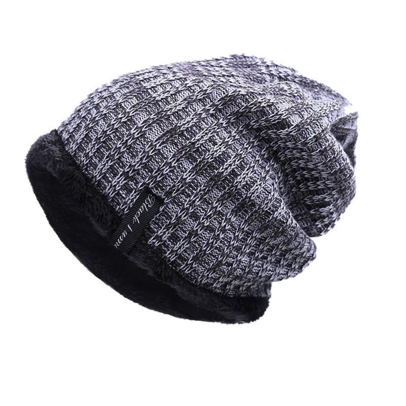Terciopelo de punto grueso invierno gorro para hombre sombrero Skullies  gorras moda campana - comprar a precios bajos en la tienda en línea Joom 8369ecac428