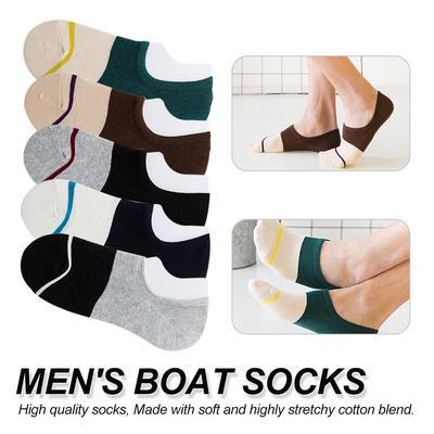 b9391c7cd9375 L'été mâle invisible chaussettes coton loisirs temps chaussette Low Cut cheville  chaussette garçon bateau