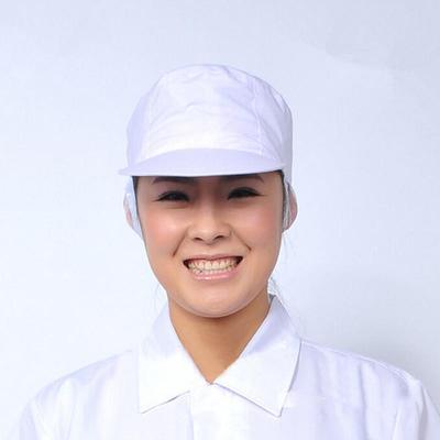 PolyCotton blanco elástico traje sombrero de panadero de cocina cocinero  Chef redecilla gorro de Catering 588eecc8f21