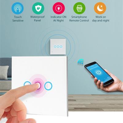 3 Way Smart Touch Light Wall Switch Glass Panel LED