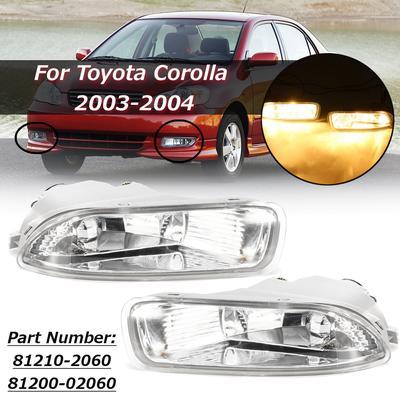 2X Car ABS Chrome Rear Fog light lamp Bumper Cover Trim For 2014-2015  Corolla