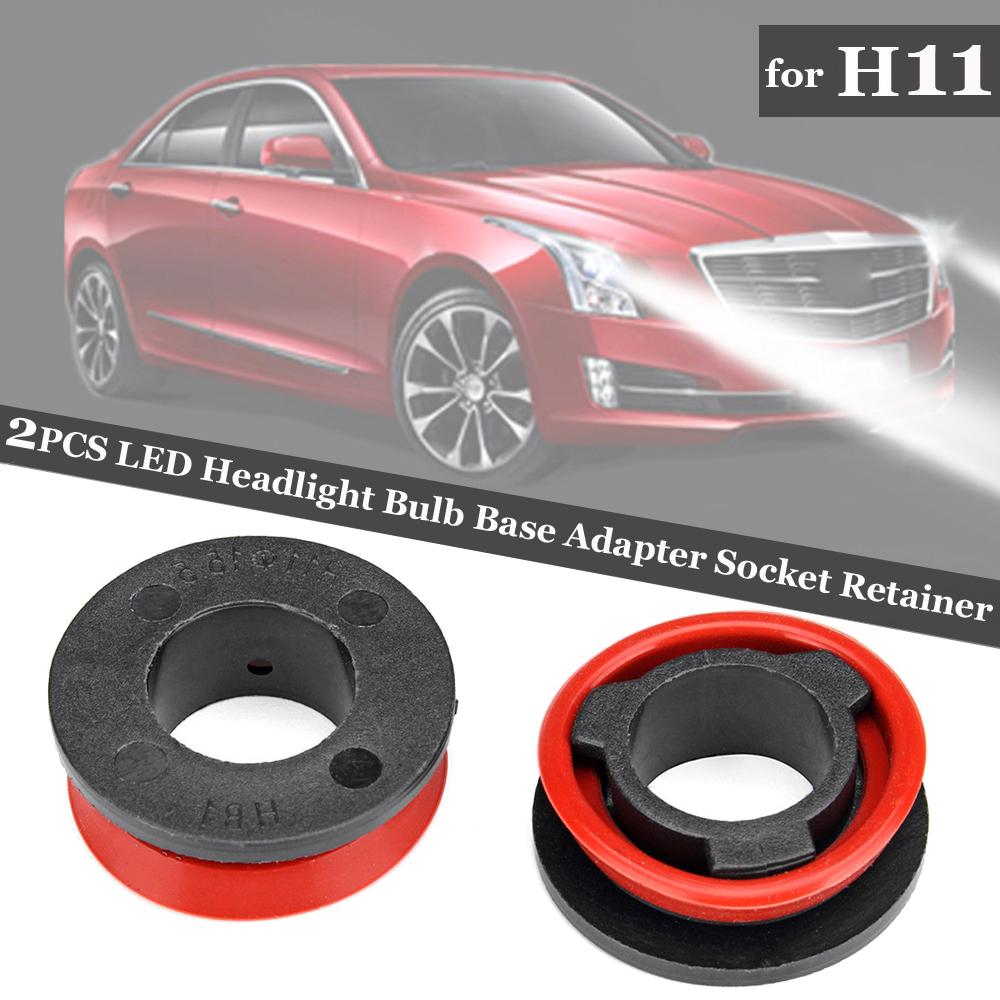 Pair H4 LED Headlight Bulb Base Adapter Socket Retainer Holder Accessories Parts