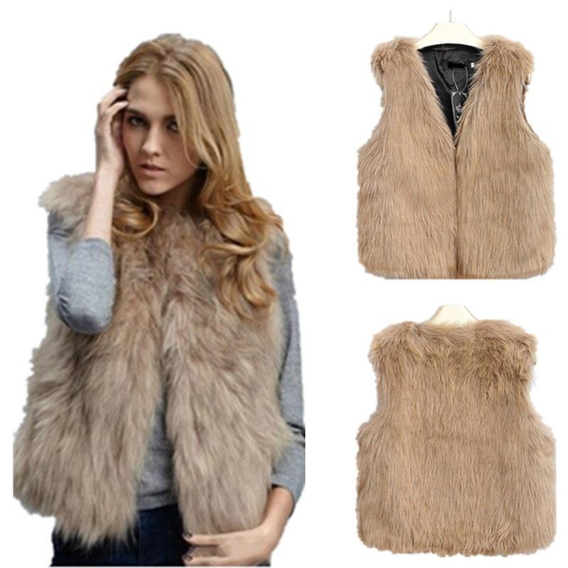 Women/'s Lamb Fur Coats Vest Fleece Parkas Winter Warm Waistcoat Sleeveless Gilet