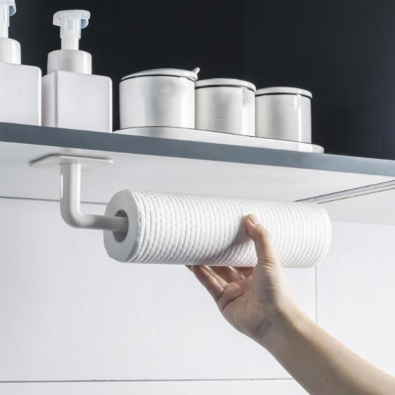 Ванная комната Roll Бумага Стойка Стойки Хранения Кухня Стенд Многофункциональный 2Pcs/установить стены-mounted – купить по низким ценам в интернет-магазине Joom