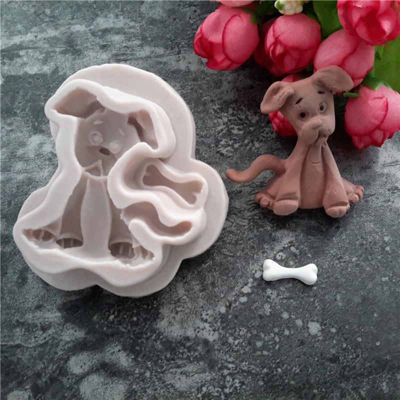 Chien Silicone Fondant Moule Gâteau Décoration Outils chocolat Gumpaste Moule