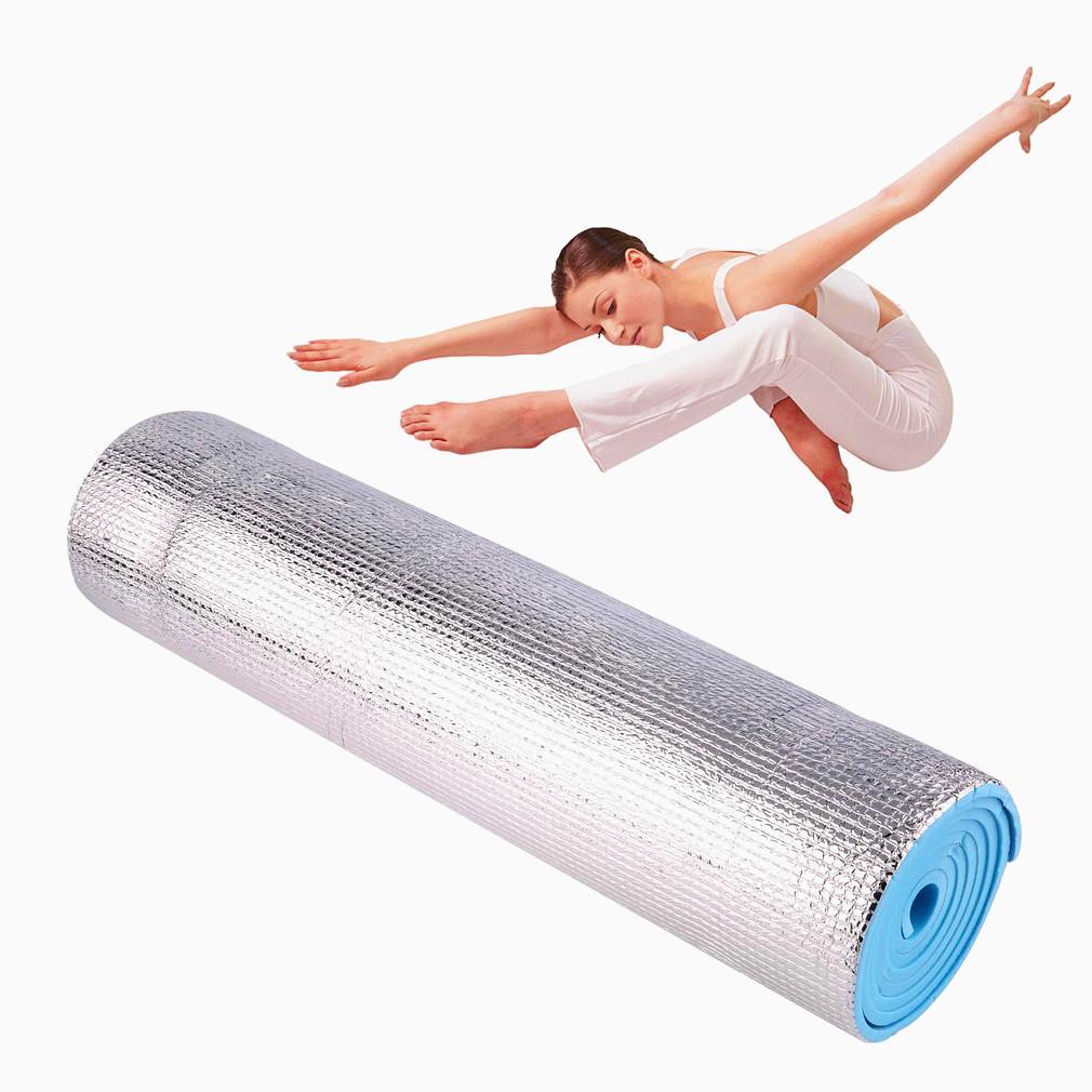 180x50x0.5 Camping Mat Foldable Sleeping Mattress Mat Waterproof Aluminum Foil Outdoor Travel Mat Sports Fitness Yoga Mats Yoga