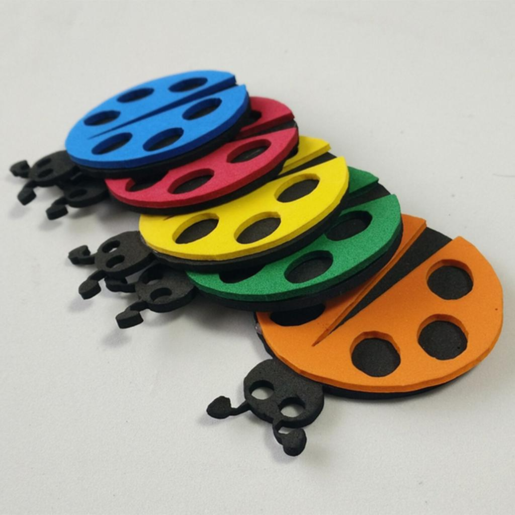 10pcs Colorful Ladybird Shape Self Adhesive Foam Stickers for Wall Ceil Deor