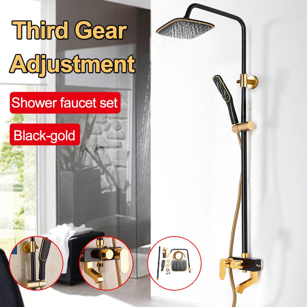 3 Gear Shower Faucet Set Home Bathroom Rainfall With Hose Shower Head Wall Mounted Handle Mixer Tap Buy At A Low Prices On Joom E Commerce Platform