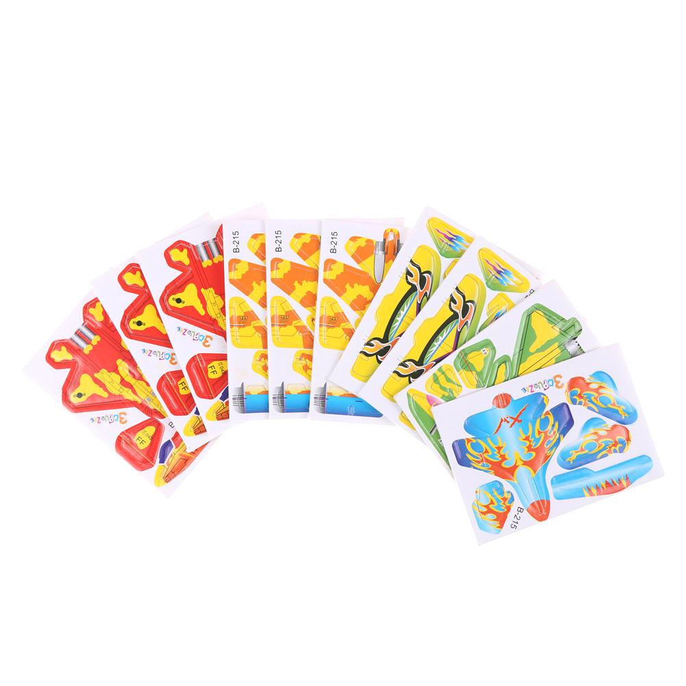 Puzzles & Geduldspiele 5Set Paper Aircraft 3D Puzzles Jigsaw Model Toys For Kids DIY Craft   X
