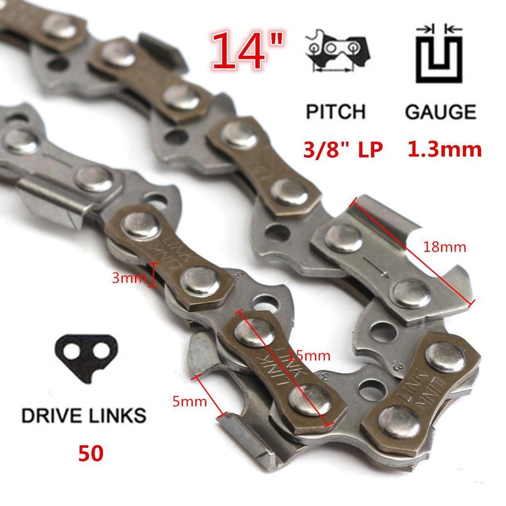 "14/"" Bar Chainsaw Chain 3//8/"" LP Pitch .050 Gauge 49 DL Drive Links"