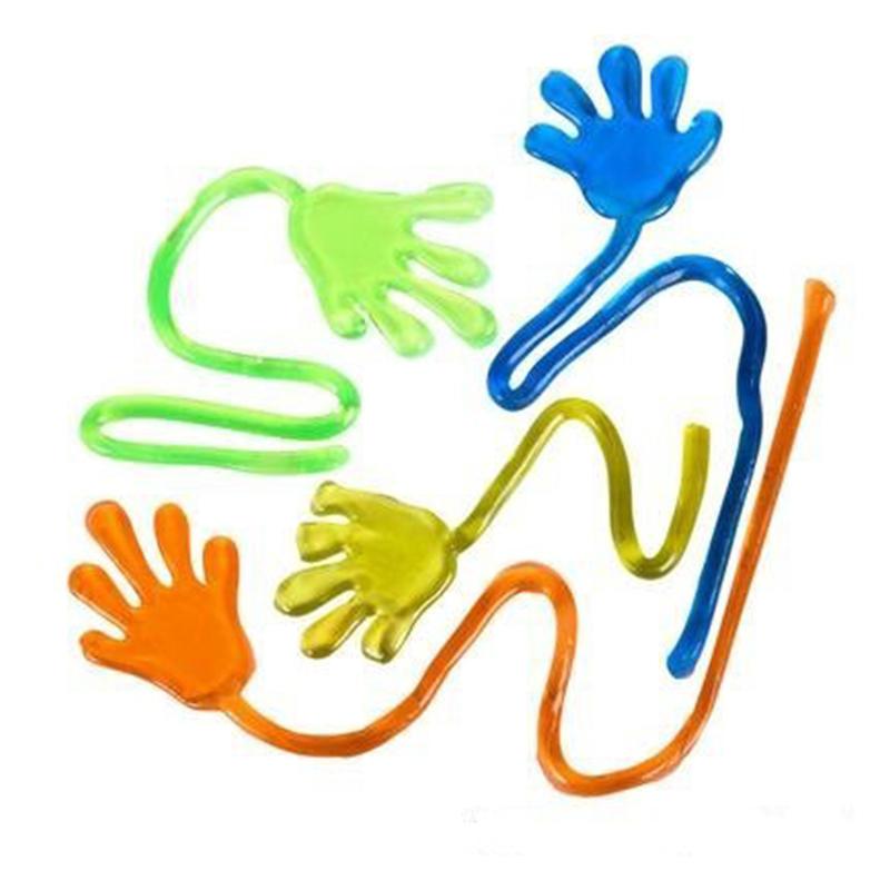 10pcs80怀旧玩具 弹性伸缩粘性手掌 大号爬墙手掌整人玩具 整蛊小手