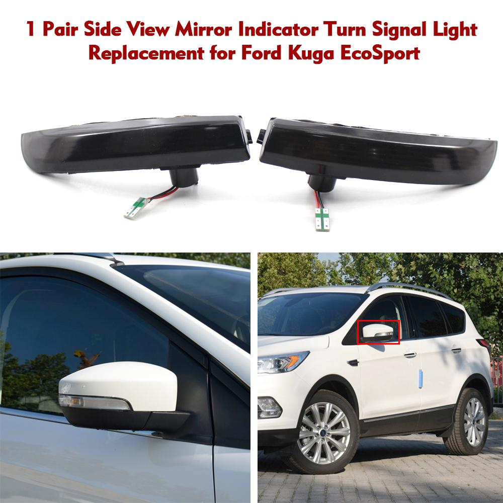 For Ford Kuga Escape 2013-2015 Chrome Rear Tail Light Lamp Hood Cover Trim 4pcs