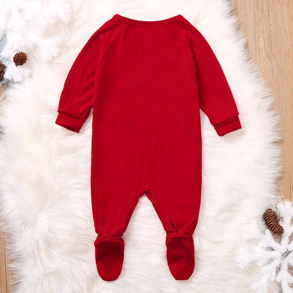 Toddler Xmas Infant Baby Boy Girl Deer Romper Jumpsuit Christmas Clothes Outfits