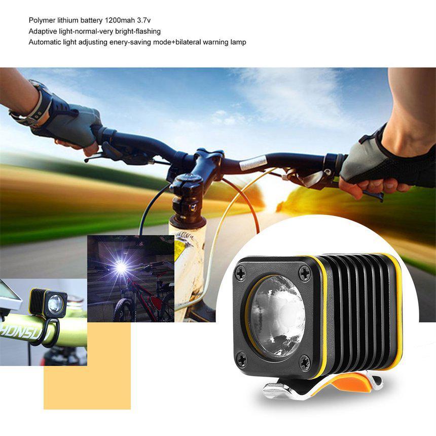 1000LM Light Sense Bike Headlights Riding Lights USB Charging Bicycle Lights US