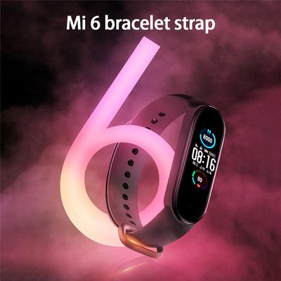 1PC TPU Solid Color Replacement Wristband for Xiaomi Mi Band 6 Strap Watch Accessories
