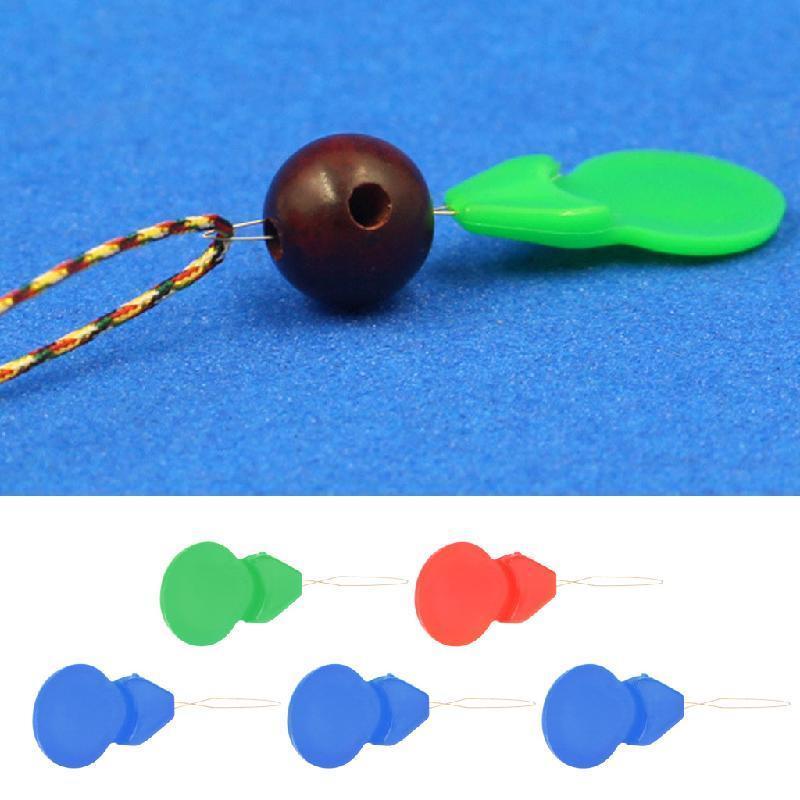Beading Needles Threading String Tool Plastic Calabash Shape Bigbeads Needle