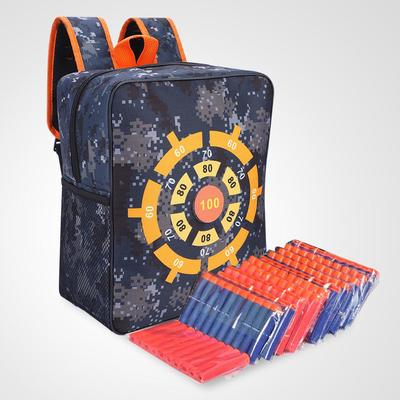 Target Storage Pouch Portable Shooting Game  Bag with Pull Rod for Nerf