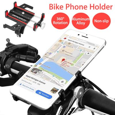Aluminum Motorcycle Bike Bicycle Holder Mount Handlebar RED For Cell Phone GPS
