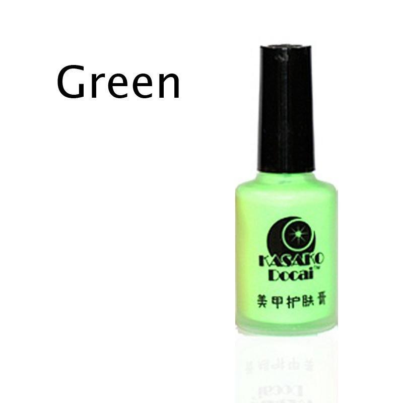 7 colores desprenda líquido uñas arte cinta de látex y piel dedo ...