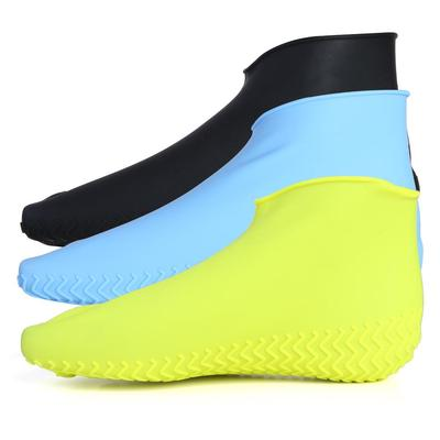 Anti Slip Shoe Cases for Children Men Women 2 Pairs Reusable Shoes Covers Waterproof Silicone Boots Covers for Rain and Snow