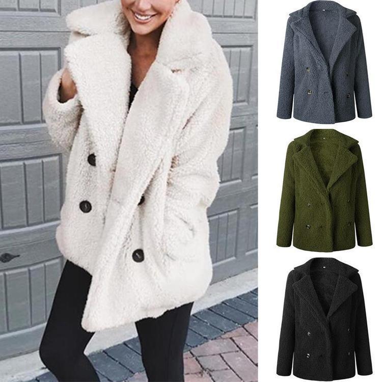 Женщины Зима Теплый Тедди Медведь Мех Рунс Негабаритные Куртка Пальто Пушистый Верхняя одежда – купить по низким ценам в интернет-магазине Joom