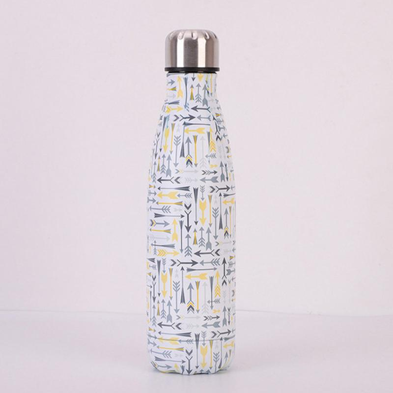 Pink Water Bottle Vacuum Insulated Flask Thermal Sport Chilly Drinks Cold Cups